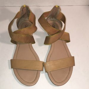 Shoes - Cato Tan Sandals with criss cross straps size 11